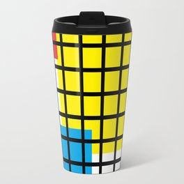 Modern geometric background, red, yellow, green,orange and blue  #society6 #decor #buyart #artprint Travel Mug