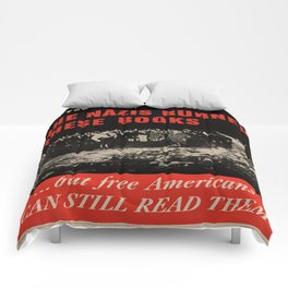 Vintage poster - Burned Books Comforters
