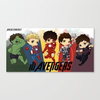1d Canvas Prints featuring 1D Avengers by RockitRocket