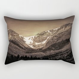 Snow in the Saddle Rectangular Pillow