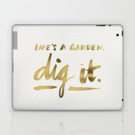 Dig It – Gold Ink Laptop & iPad Skin