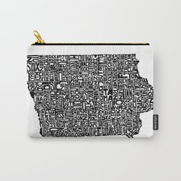 Typographic Iowa Carry-All Pouch