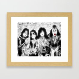 Magical KISS rock group Framed Art Print