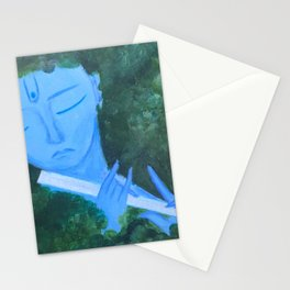 Krishna with Flute Stationery Cards
