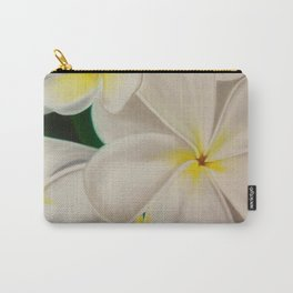 white plumerias Carry-All Pouch