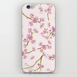 Spring Flowers - Pink Cherry Blossom Pattern iPhone Skin