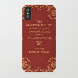 Vintage Sleeping Beauty Book Cover, Fairy Tale iPhone Case