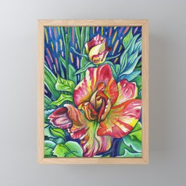 Joseph's Coat - Expressive Flower Art in Acrylic Framed Mini Art Print