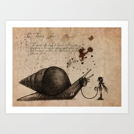 The fairy otler  Art Print