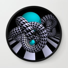 go turquoise -11- Wall Clock