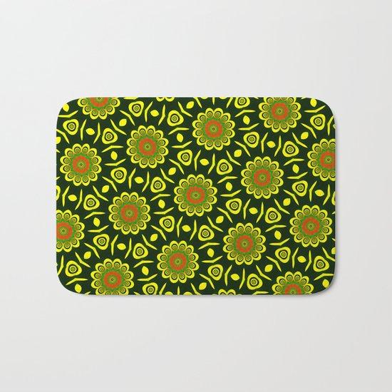 Cute ethnic floral pattern Bath Mat