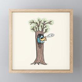 Rude Bird Framed Mini Art Print