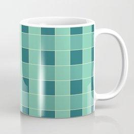 PLAID, TEAL AND SEAFOAM Coffee Mug