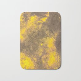 Yellow Painted on Concrete Bath Mat