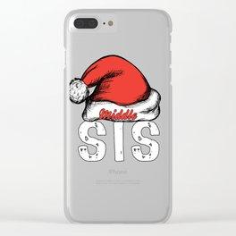 santa sismiddle Clear iPhone Case
