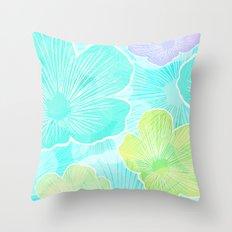 Happy flower Throw Pillow