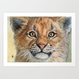 Lion Cub 894 Art Print