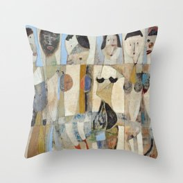 Six Ladies Throw Pillow