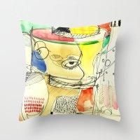 kitchen Throw Pillows featuring kitchen by Matteo Lotti