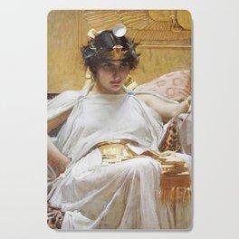 John William Waterhouse - Cleopatra Cutting Board