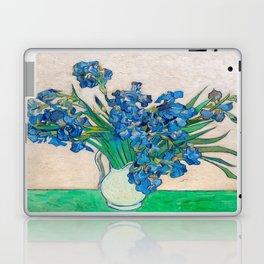 Irises by Vincent van Gogh Oil Painting Still Life Floral Arrangement In Vase Laptop & iPad Skin