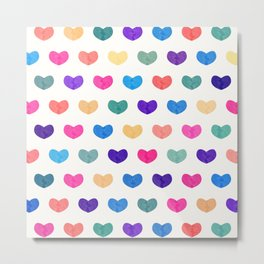 Colorful Cute Hearts III Metal Print