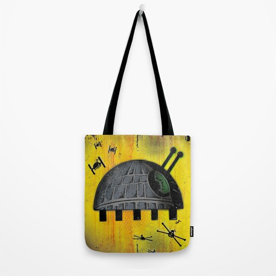 Death Star Bug – Yellow background Tote Bag