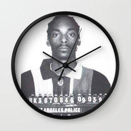 Snoop Dogg Mugshot  Wall Clock