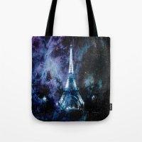paris Tote Bags featuring Paris dreams by 2sweet4words Designs