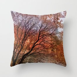 Mad colors of Autumn Throw Pillow