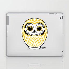 White Fukuro Daruma Laptop & iPad Skin