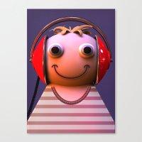 headphones Canvas Prints featuring Headphones by Aguinaldo Goncalves