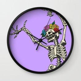 Dancing Skeleton (Lavender) Wall Clock
