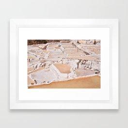 Maras Salt Mines Framed Art Print