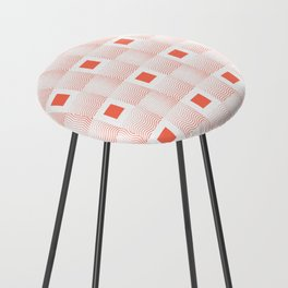Rachel's Wavy Coral Pattern Counter Stool