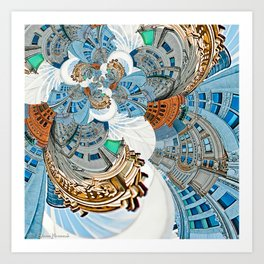 New York City - Escher Droste Edition Art Print
