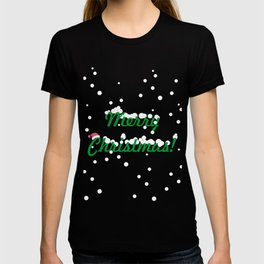 Snow covered Christmas greeting card T-shirt