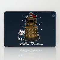 david tennant iPad Cases featuring Hello Doctor Tennant by RebelArtCollective