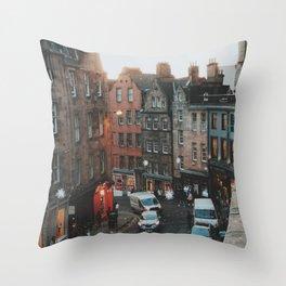 Golden Hour in Edinburgh Throw Pillow