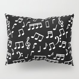 Musical Notes Pattern Pillow Sham