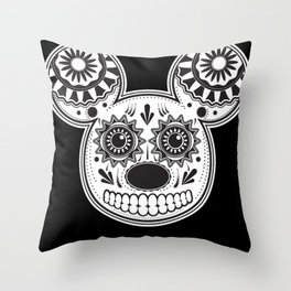 This Ain't Disney Sugar Skull Throw Pillow