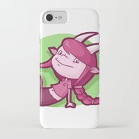 capricorn iPhone & iPod Cases featuring Capricorn by Chiara Zava