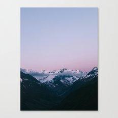 Sunset Mountains (pastel) Canvas Print
