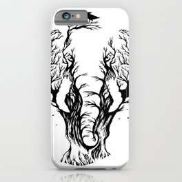 Negative Space Elephant iPhone Case