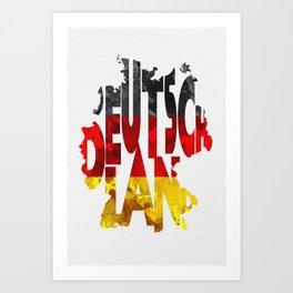 Typo art prints society6 deutschland typographic world map germany typography flag map art art print gumiabroncs Images