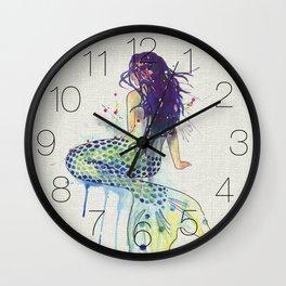 Mermaid - Natural Wall Clock