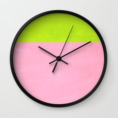Neon wall Wall Clock