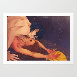 Gold cage, hostage to my feelings Art Print