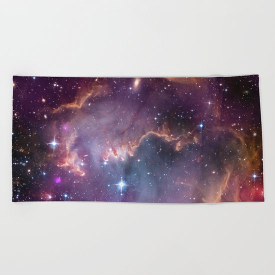 Under the Wing of the Small Magellanic Cloud Beach Towel