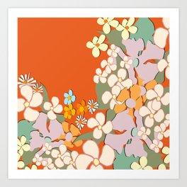 Florals Crowding Art Print